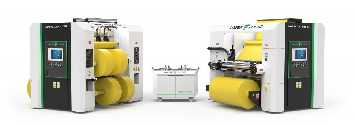 Flexonyomógépek, tekercsvágók, laminálók gyártása | Două utilaje complete la preţul uneia
