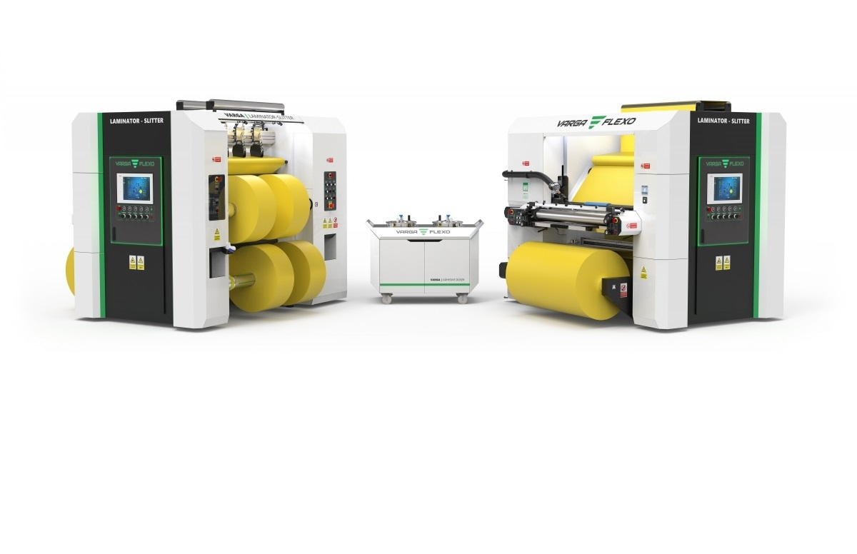 Flexonyomógépek, tekercsvágók, laminálók gyártása   Две машины по цене одной